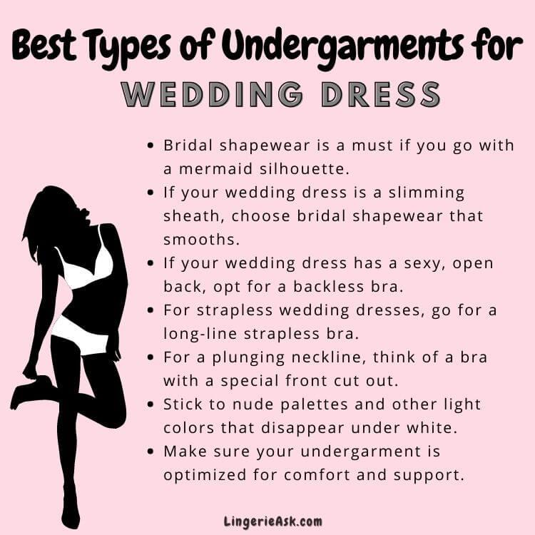 Best Types of Undergarments for wedding dress
