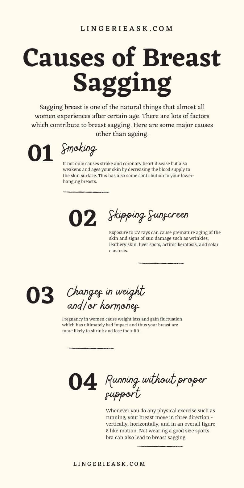 common Causes Of Breast Sagging